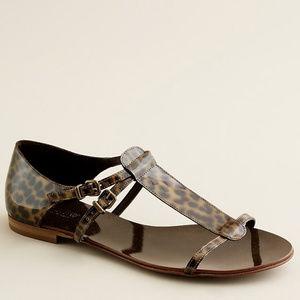 J. Crew Iris Tortoise Patent Leather Sandals
